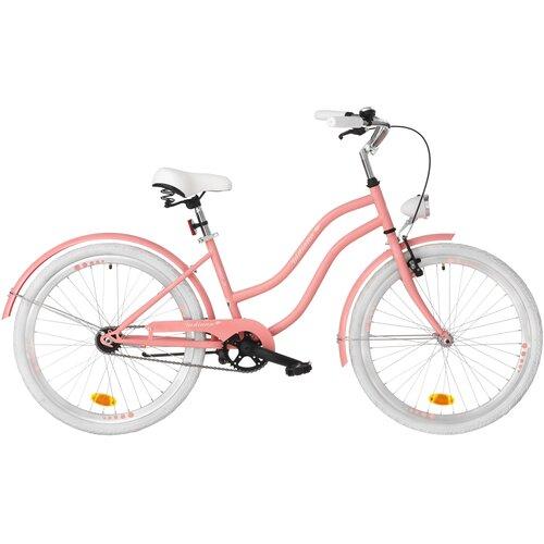 Rower młodzieżowy INDIANA X-Cruiser Jr 24 cale dla dziewczynki Różowy