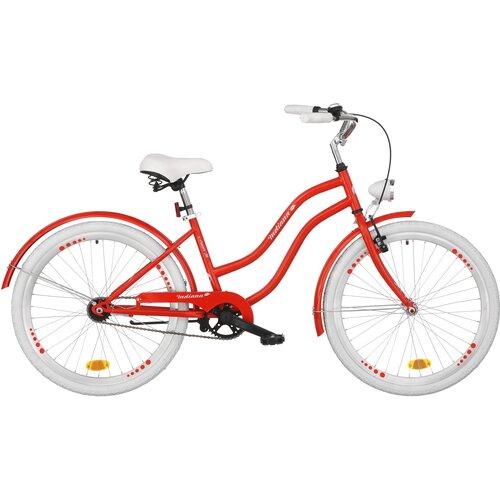 Rower młodzieżowy INDIANA X-Cruiser Jr 24 cale dla dziewczynki Czerwony