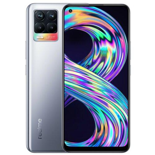 "Smartfon REALME 8 6/128GB 6.4"" Srebrny RMX3085"
