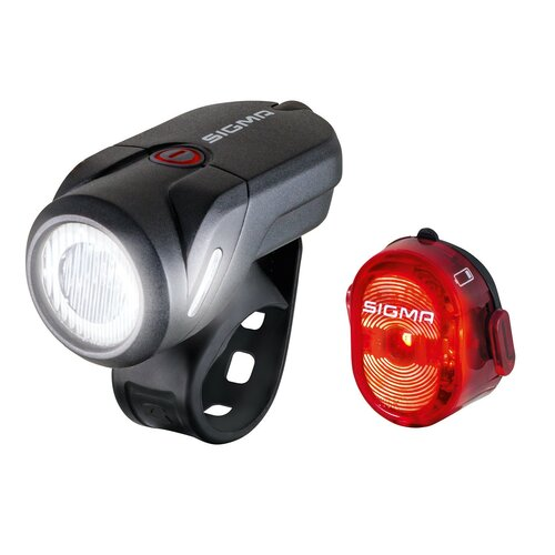 Zestaw lampek rowerowych SIGMA Aura 35 K-Set USB