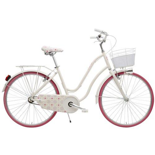 Rower miejski z koszykiem MBM 910 Mima 1B 26 cali damski Różowy