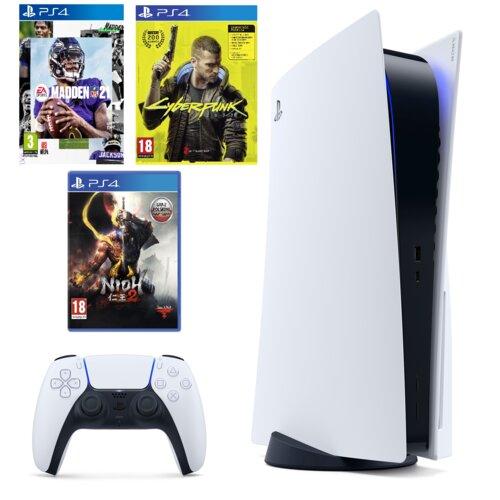 Konsola SONY PlayStation 5 + Nioh 2 + Madden NFL + Cyberpunk 2077