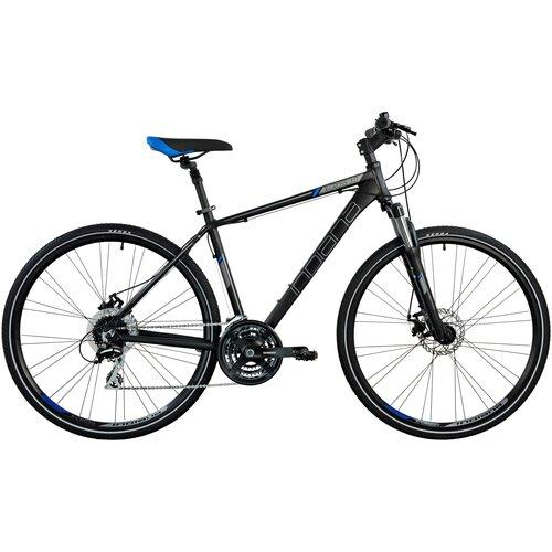 Rower crossowy INDIANA X-Cross 3.0 M19 męski Czarno-niebieski