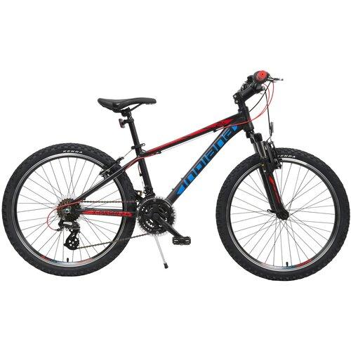 Rower młodzieżowy INDIANA X-Pulser 2.4 24 cale dla chłopca Czarno-niebieski
