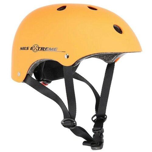 Kask rowerowy NILS EXTREME MTV12 Pomarańczowy Miejski (rozmiar M)