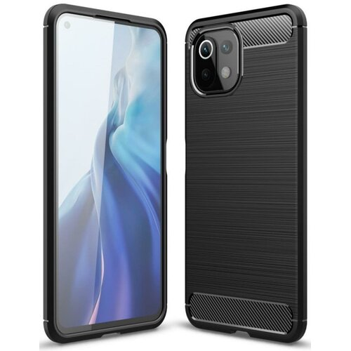 Etui TECH-PROTECT TPUCarbon do Xiaomi Mi 11 Lite/Mi 11 Lite 5G Czarny