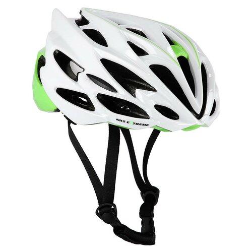 Kask rowerowy NILS EXTREME MTW58 Biało-zielony (rozmiar L)