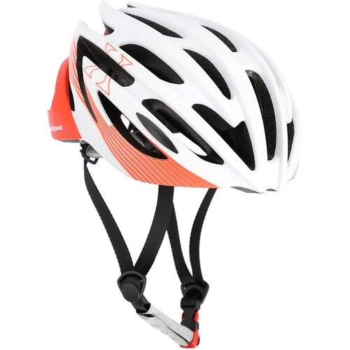 Kask rowerowy NILS EXTREME MTW24 Biało-czerwony MTB (rozmiar L)
