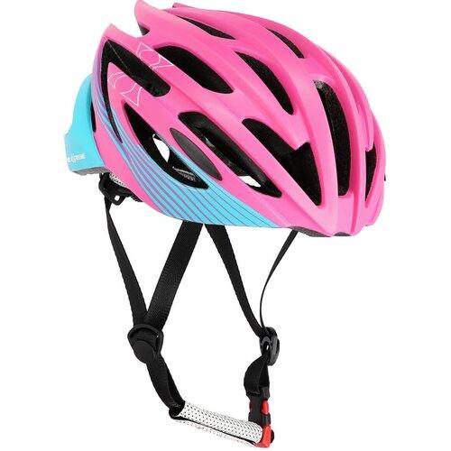 Kask rowerowy NILS EXTREME MTW24 Fioletowo-niebieski MTB (rozmiar L)