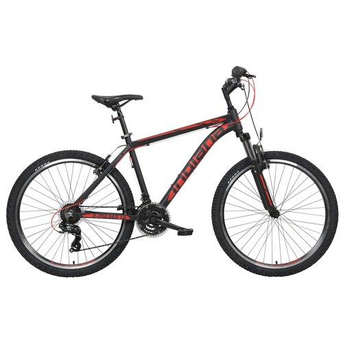 Rower górski MTB INDIANA X-Pulser 1.6 M18 26 cali męski Czarno-czerwony