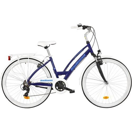 Rower miejski INDIANA Brawa 7B 28 cali damski Granatowy