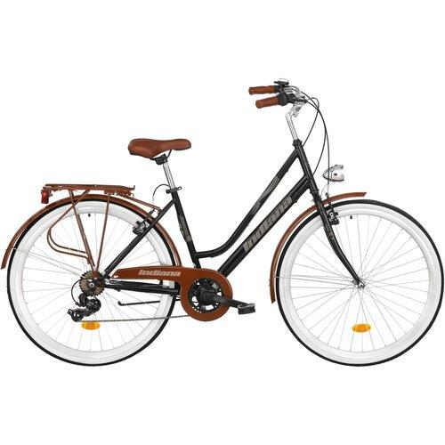 Rower miejski INDIANA Fortuna 7B 28 cali damski Czarny