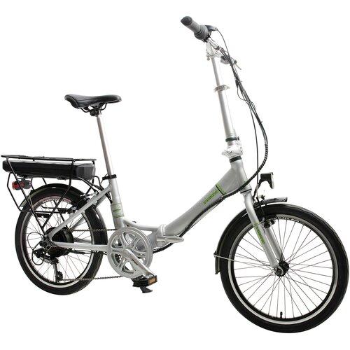 Rower elektryczny INDIANA E2000U13 20 cali damski Srebrny