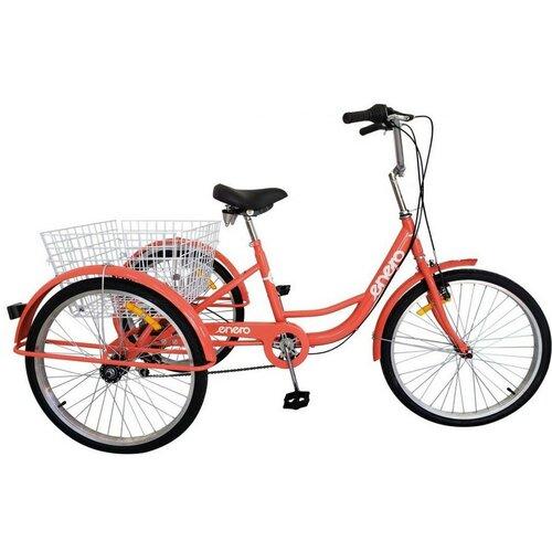 Rower trójkołowy ENERO 587955 1B 24 cale damski Czerwony
