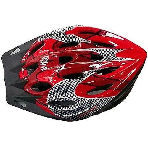 Kask rowerowy SPARTAN 30703 Czerwono-czarny MTB (rozmiar L)
