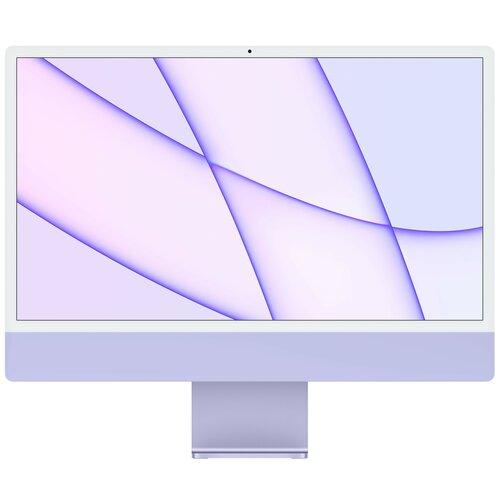 "Komputer APPLE iMac 24 4k 23.5"" Retina M1 8GB SSD 512GB macOS Fioletowy"