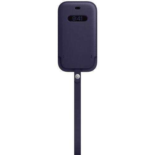 Etui APPLE Leather z MagSafe do iPhone 12 Mini Ciemny fiolet
