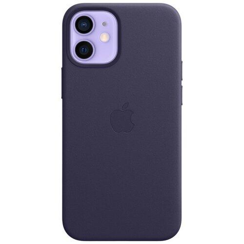 Etui APPLE Leather Case MagSafe do iPhone 12 mini Ciemny fiolet