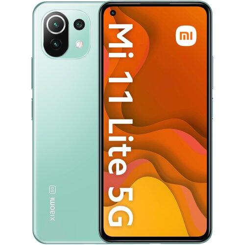 """Smartfon XIAOMI Mi 11 Lite 6/128GB 5G 6.55"""" 90Hz Zielony 31706"""
