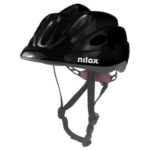 Kask rowerowy NILOX Led Czarny dla dzieci (rozmiar S/M)