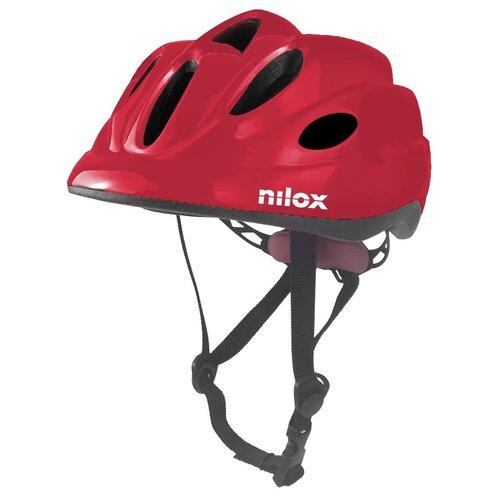 Kask rowerowy NILOX Led Czerwony dla dzieci (rozmiar S/M)