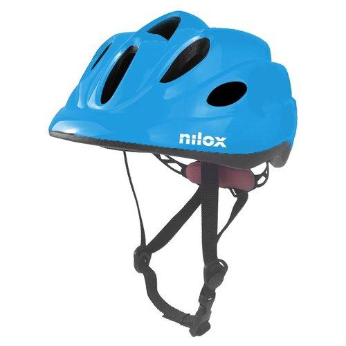 Kask rowerowy NILOX Led Niebieski dla dzieci (rozmiar S/M)