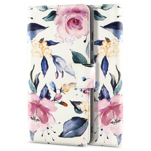 Etui TECH-PROTECT Wallet do Samsung Galaxy A52/A52s 5G Kwiaty Biały