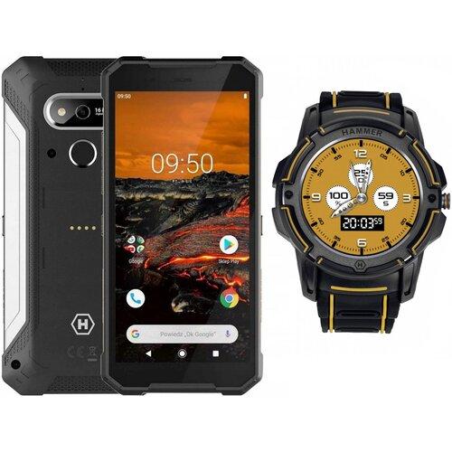 """Smartfon HAMMER Explorer 3/32GB 5.72"""" Srebrny + Smartwatch"""