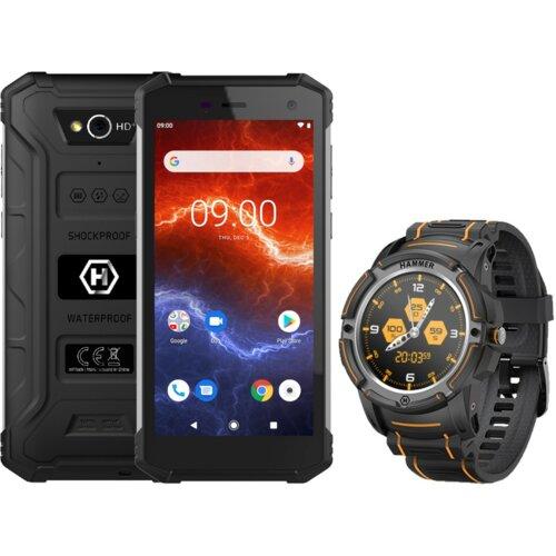 "Smartfon HAMMER Energy 2 3/32GB 5.5"" Czarny + Smartwatch Hammer Watch Czarny"