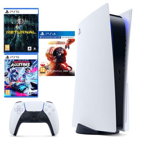 Konsola SONY Playstation 5 + Returnal + Destruction Allstars + Star Wars: Squadrons