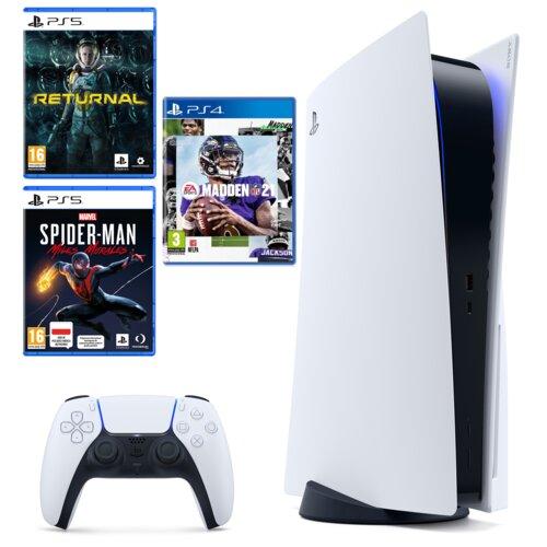 Konsola SONY PlayStation 5 + Returnal + Spider-Man Miles Morales + Madden NFL 21