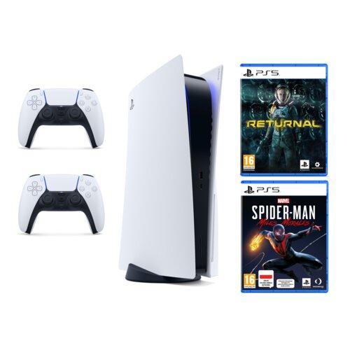 Konsola SONY PlayStation 5 + Kontroler DualSense + Returnal + Spider-Man: Miles Morales