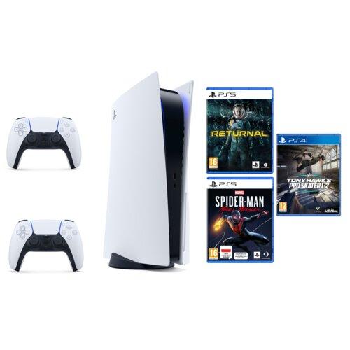 Konsola SONY PlayStation 5 + Kontroler DualSense + Returnal + Spider-man Miles Morales + Tony Hawk's Pro Skater 1+2