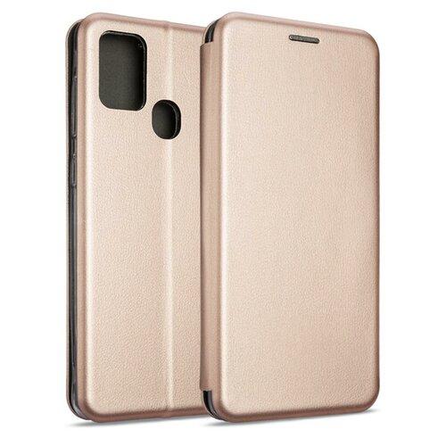 Etui BOOK MAGNETIC do Samsung Galaxy A21s Różowo-Złoty