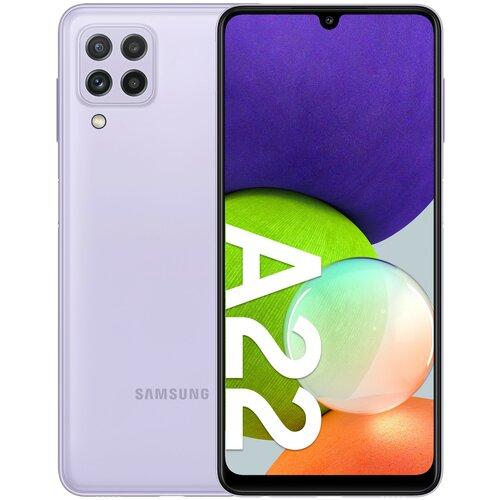 """Smartfon SAMSUNG Galaxy A22 4/64GB 6.4"""" 90Hz Fioletowy SM-A225"""