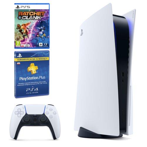 Konsola SONY PlayStation 5 + Ratchet & Clank: Rift Apart + Playstation Plus 365