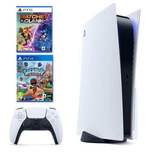 Konsola SONY PlayStation 5 + Ratchet & Clank: Rift Apart + Sackboy: A Big Adventure