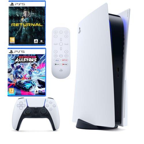 Konsola SONY PlayStation 5 + Returnal + Destruction AllStars + Sony PS5 Media Remote