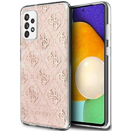 Etui GUESS 4G Glitter do Samsung Galaxy A32 5G Różowy