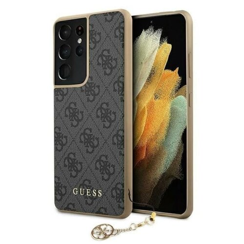 Etui GUESS 4G Charms Collection do Samsung Galaxy S21 Ultra Szary
