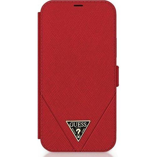 Etui GUESS Saffiano do iPhone 12 Mini Czerwony