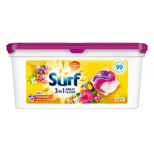 Kapsułki do prania SURF Hawaiian Dream & Coconut 34 szt.
