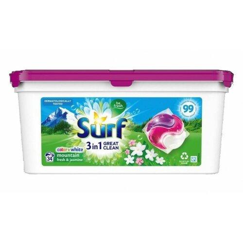 Kapsułki do prania SURF Mountain Fresh & Jasmine 34 szt.