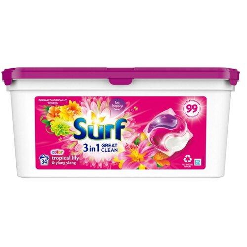 Kapsułki do prania SURF Tropical Lily 34 szt.