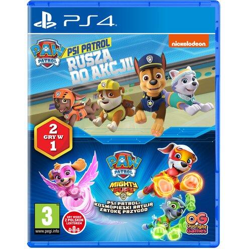 Psi Patrol: Rusza do akcji + Kosmopieski ratują Zatokę Przygód Gra PS4 (Kompatybilna z PS5)
