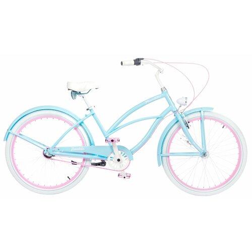 Rower miejski PLUMBIKE La Donna Mia 3B 26 cali damski Błękitny