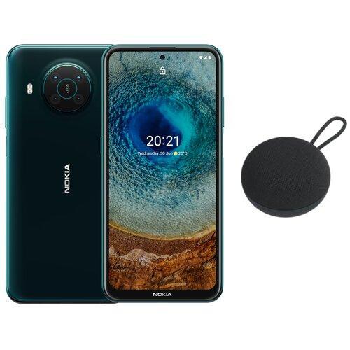 """Smartfon NOKIA X10 6/64GB 6.67"""" 5G Zielony + Nokia Wireless Speaker SP-101"""