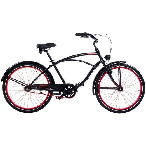 Rower miejski PLUMBIKE Rider Monza 3B 26 cali męski Czarny