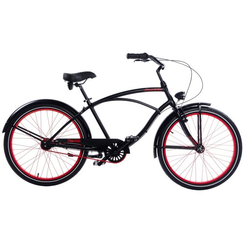 Rower miejski PLUMBIKE Rider Monza 7B 26 cali męski Czarny