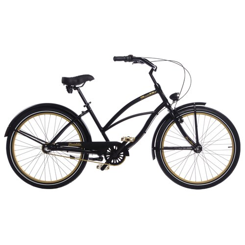 Rower miejski PLUMBIKE La Donna Gold Black 3B 26 cali damski Czarny